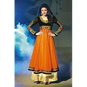 SGC- Orange Georgette Kalidar Anarkali Suit - MF-32005