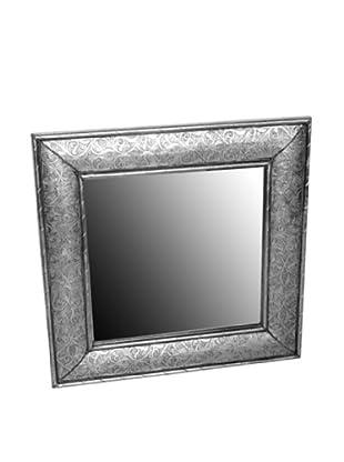 Badia Silver Nickel Square Mirror