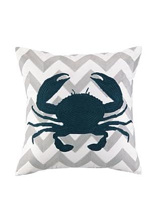 Peking Handicraft Seashell Embroidered Chevron Pillow