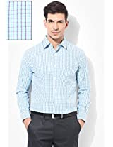Green Check Slim Fit Formal Shirt Peter England