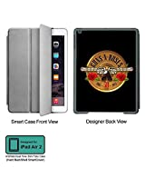 Universal Music Officially Licensed Guns n Roses -30 Years Logo Tablet Designer GRAY SMART CASE for APPLE IPAD AIR2