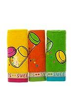 Pack 3 Paños De Cocina Sweets (Multicolor)