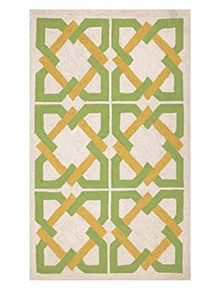 Trina Turk Rugs Geometric Tile Hook Rug (Yellow/Green)