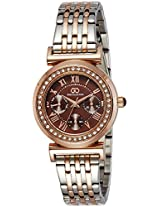 Gio Collection Analog Brown Dial Women's Watch - G2015-22