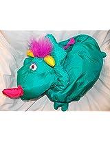 "1995 Fisher Price Monster Big Things 23"" Green Dinosaur Stuffed Animal"