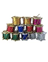 Pragati Pro Christmas tree decoration hanging drums(pack of 12, multicolored)