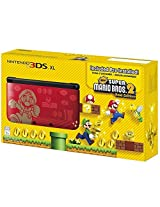 Nintendo 3DS XL Limited Edition Console Red Black Pre Installed Super Mario Bros 2 Gold Edition