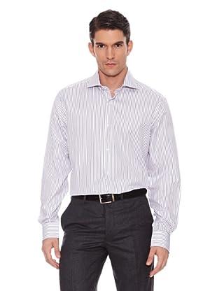 Hackett Camisa Rayas (Marrón / Negro / Azul)