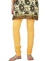 Stop Women's Knit Churidar (5056660-Yellow-Large)
