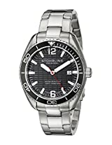 Stuhrling Original Aquadiver Analog Black Dial Men's Watch - 515.02