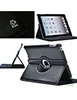 Grabmore Rotating Leather Carry Case Cover for Apple Ipad 2 Ipad 3 Ipad 4 Ipad2/3/4