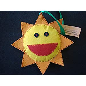 Knitknacks Yellow Felt Hanging Decoration
