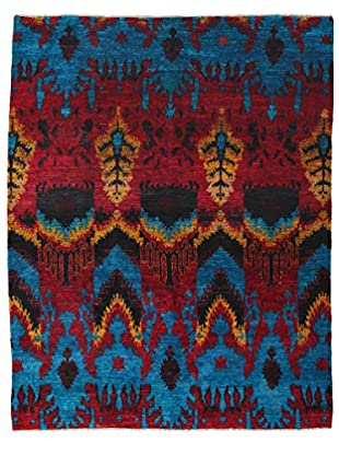 Darya Rugs Silk One-of-a-Kind Rug, Blue, 7' 10