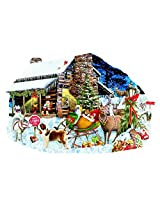 Santas Rest Stop A 1000 Piece Shaped Jigsaw Puzzle By Suns Out