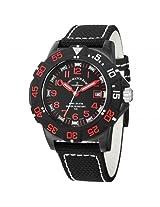 Zeno Black Dial Black Fabric Strap Men'S Watch - Zeno-6709-515Q-A17