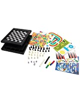 [18 In 1][2 4 Palyer] Magnetic Game Chess/Checkers/Backgammon/Chinese Checkers/Nine Mens Morris Game/Snakes&Ladders Game/Ludo Game/Goose Game/Motor Racing/Train Chess/Racing Game/Steeplechase Game