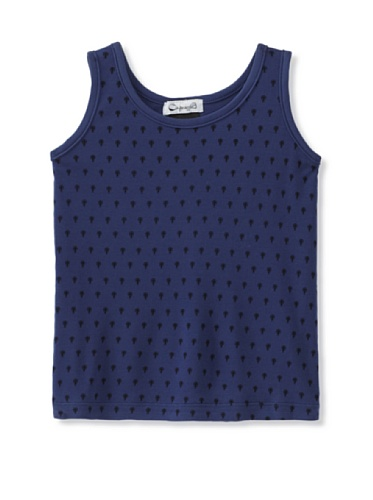 A for Apple Jam Tank with Lady Bug Print (Blue)