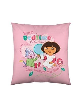 Euromoda Licencias Funda de Cojín Dora Bedtime (Rosa / Fucsia)