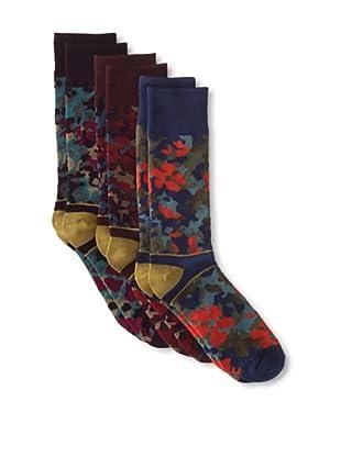 Florsheim by Duckie Brown Men's Floral Socks - 3 Pack (Assorted)