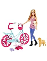 Barbie Spin N Ride Pups & Barbie Doll Playset