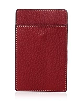 Leone Braconi Men's Credit Card Holder, Red, One Size