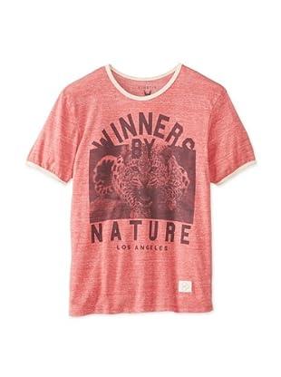 Kinetix Men's Ringer Crew Winner T-Shirt (Red)