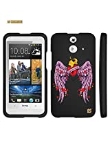Spots8 for HTC One E8 Glossy Image Graphic Designs 2 Piece Snap On Images Cellphone Cell Phone Hard Protective Case Cover - Freedom glory Design