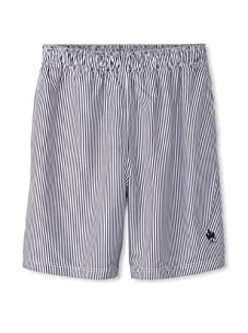 French Connection Men's Pinstriped Swim Trunks (Dark Blue)