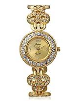 JAINX Analogue Golden Dial Women's Watch - JW506