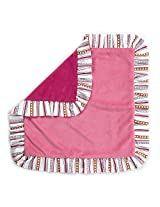 One Grace Place Sophia Lolita Binky Blanket, Pink and Berry