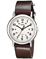 Timex Weekender Indiglo Analog Beige Dial Unisex Watch - T2N893