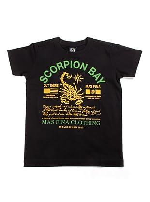 Scorpion Bay Camiseta Texto Negro (Negro)