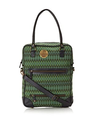 Sanaa Hyder Women's Carry-On Tote (Balcony Green Print)