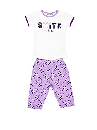 John Smith Conjunto Camiseta y Pantalón Iria (Blanco / Lila)