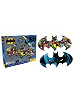 Batman 2 Sided Diecut Jigsaw Puzzle, 600-Piece