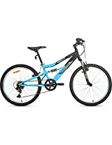 UT DSJ1 6 Speed Cycle, Junior 24-inches (Black/Blue)