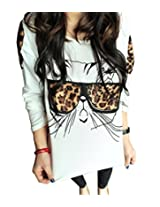 Thinkbay? Trendy Nalula Women Clothes Tops Tees T Shirt Leopard Glasses Kitte...