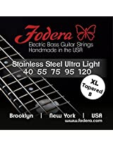 Fodera Electric Bass Guitar Strings, Roundwound 5-String Stainless Steel - 40120 UL XL TB