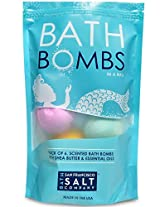 Bath Bombs In A Bag Pack Of 6. Assorted. Made With Shea Butter And Essential Oils By San Francisco Salt Company