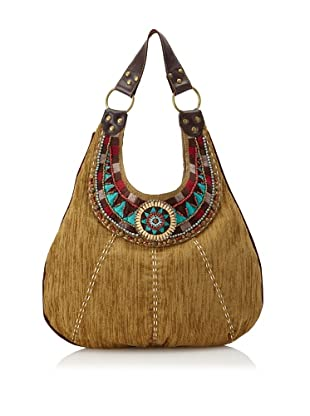 Mare Sole Amore Women's Medallion Hobo (Camel)