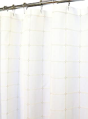Park B. Smith Durham Square Shower Curtain (White)