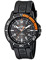 Timex Men's T499409J Expedition Uplander Black and Orange Resin Strap Watch