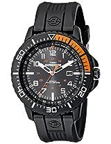 Timex Men's T499409J Expedition Uplander Black and Orange Resin Strap Watch