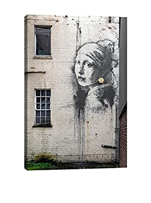 Banksy Girl With The Pierced Ear Gallery Wrapped Canvas Print