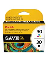 EASTMAN KODAK FILM 2880674 Color Combo (30) Ink, Black; Tri-Color, 2/PK (8781098)