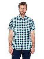 Cortefiel Camisa Cuadros (azul / verde / blanco)