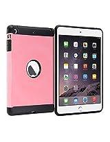 iPad mini Case, GMYLE Hybrid Case Tough for iPad mini - Pink Hybrid TPU Protective Hard Shell Back Case
