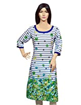 Blue Parker Multicolor Cotton Kurti