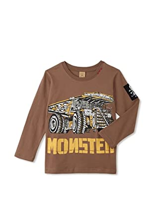 Monster Republic Boy's Monster Truck Tee (Brown)