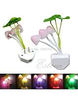 Kartfy Fancy Changing Colors LED Mushroom Night Light Home Switch Illumination
